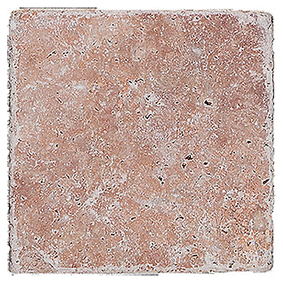 Antikmarmor Travertino (10 x 10 cm, Rosso)