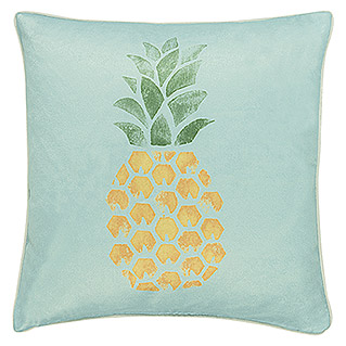 Barbara Becker Home Passion Kissen Pineapple (Türkis, 45 x 45 cm, 100 % Baumwolle)