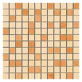 Mosaikfliese Sheet (30 x 30 cm, Beige/Cotto, Glasiert)