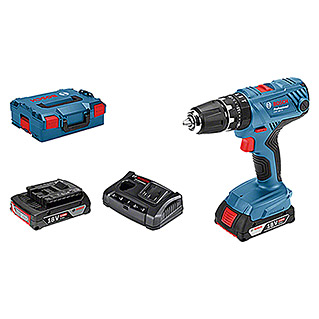 Bosch Professional Accuklopboorschroevendraaier GSB 18V-21 L-Boxx (2 accu's, 2 Ah, Onbelast toerental: 0 tpm - 1.800 tpm)