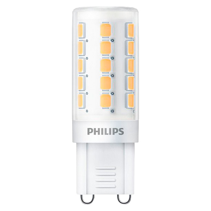Philips Bombilla LED (1,9 W, G9, Color de luz: Blanco cálido, Tubular)