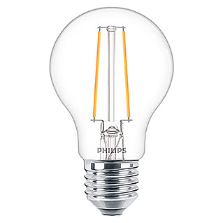 Philips Bombilla LED Vintage (5,5 W, E27, Color de luz: Blanco, Intensidad regulable, Redondeada)