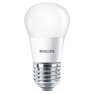 Philips Bombilla LED (5,5 W, E27, Color de luz: Blanco cálido, Redondeada)