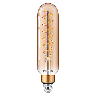 Philips Bombilla LED Vintage Gold Tubo (6,5 W, E27, Color de luz: Blanco cálido, Intensidad regulable, Tubular)