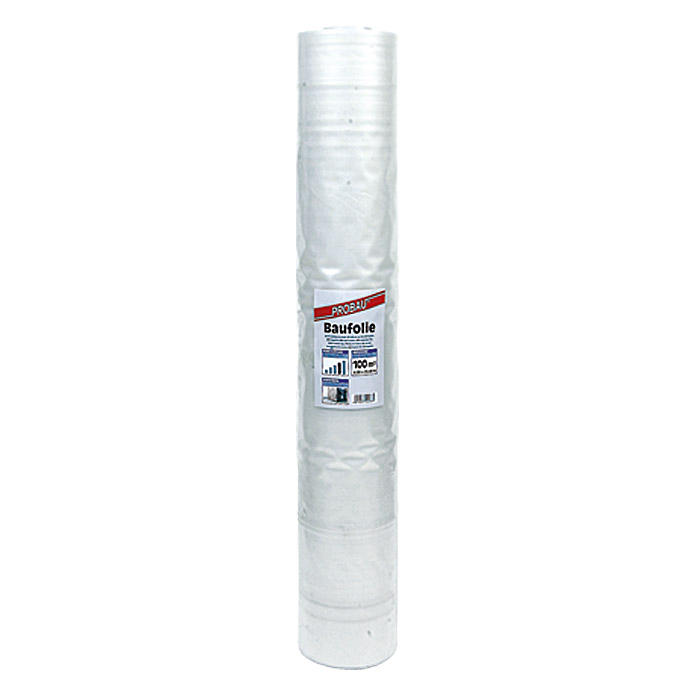 PE-BAUFOLIE 4X25m   0,2mm TRANSPARENT   PROBAU