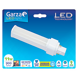 Garza Bombilla LED Biax (11 W, G24D-2, Color de luz: Blanco neutro, Tubular)