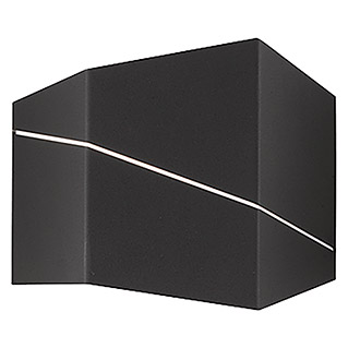 Trio Lighting Aplique de pared LED Zorro (6,5 W, Negro, L x An x Al: 18 x 6,5 x 14,5 cm, Color de luz: Blanco cálido)