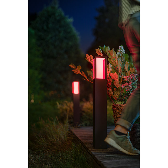 Philips Hue LED-Wegeleuchte White & Color Ambiance Impress (77 cm, Aluminium, Lichtfarbe: Bunt, A++ bis A)