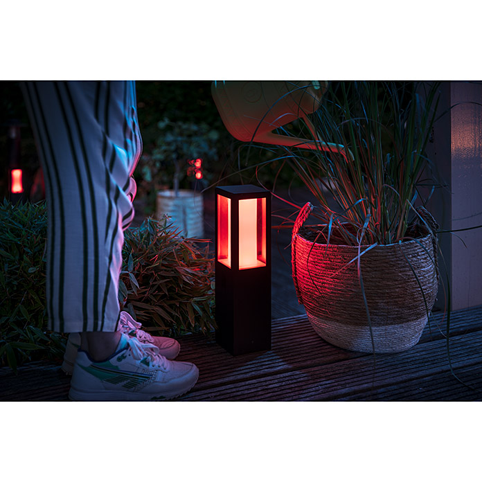 Philips Hue LED-Sockelleuchte White & Color Ambiance Impress (2-flammig, 8 W, Lichtfarbe: Bunt, IP44)