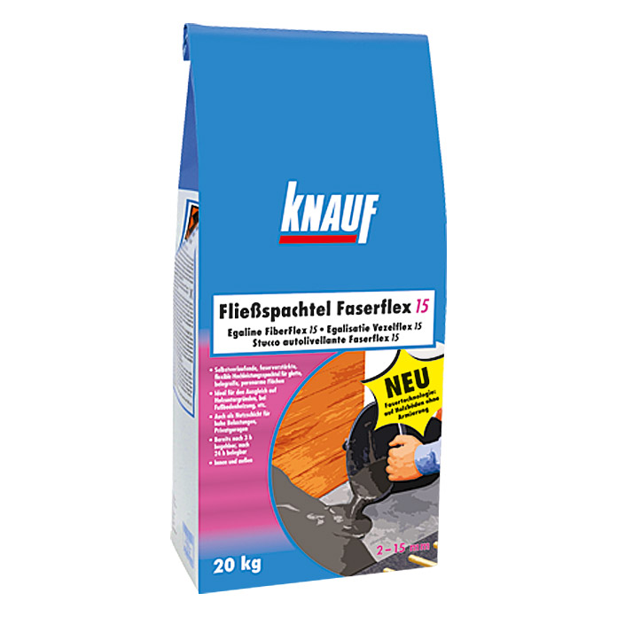 knauf flie spachtel faserflex 20 kg schichtdicke 2 15 mm bauhaus. Black Bedroom Furniture Sets. Home Design Ideas