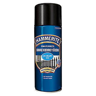Hammerite Spray antióxido Hierro y óxido (Negro, 400 ml, Brillante)