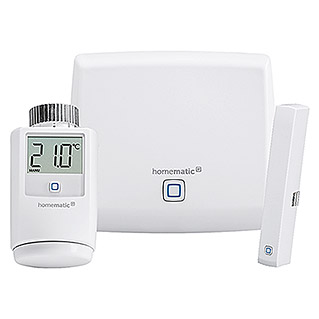 Homematic IP Starter-Set Raumklima (1 x Access Point, 1 x Fenster- und Türkontakt, 1 x Heizkörperthermostat, 3 x Batterie, Montagematerial, 3 x Bedienungsanleitung)