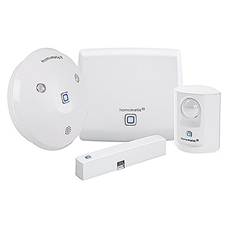 Homematic IP Starter-Set Alarm (Access Point, Alarmsirene, Fenster- und Türkontakt, Bewegungsmelder)