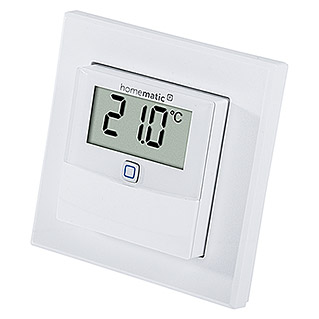 Homematic IP Funk-Temperatursensor (Weiß, 25 x 86 x 86 mm, Batteriebetrieben, Display)
