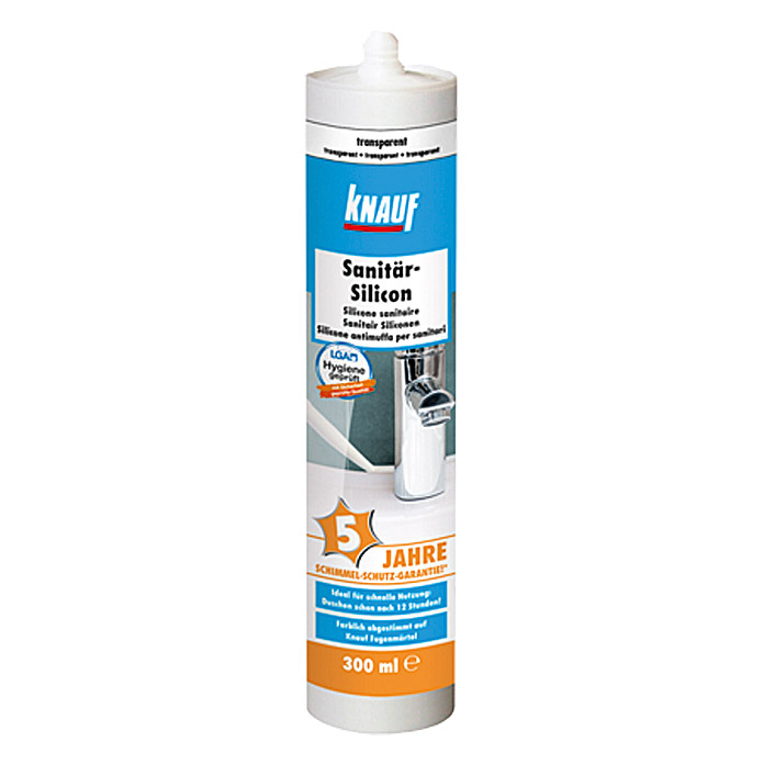 Knauf Sanitär-Silikon  (Transparent, 300 ml)