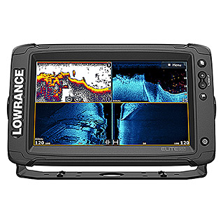 Lowrance Fishfinder & GPS-Kartenplotter Elite-9 Ti 2  (Geber: Active Imaging 3-in-1-Geber, Bildschirmtyp: 9″/229 mm Solar Max Display)