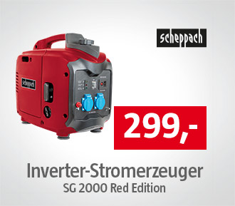 Scheppach Inverter Stromerzeuger SG 2000 Red Edition
