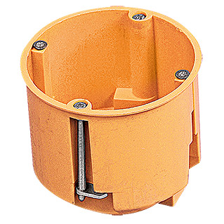 Hohlwanddose Tief (67 x 68 mm, 1-fach, Orange, 1 Stk.)