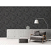 AS Creation Il Decoro Strukturtapete Fliese (Schwarz, Fliesenoptik, Reliefstruktur, 10,05 x 0,53 m)