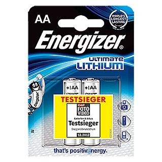 Energizer Pila Ultimate Lithium AA (Mignon AA, 1,5 V, 2 uds.)