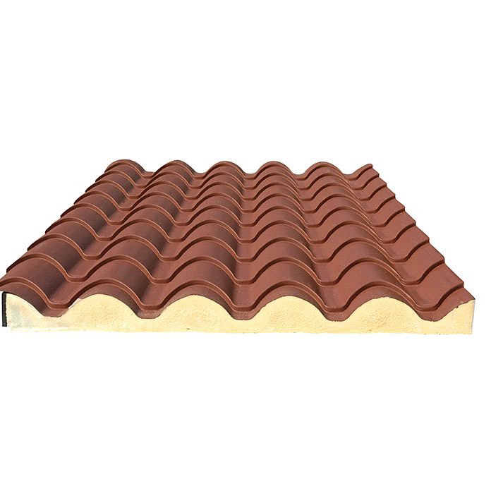 Placa de techo Coppo Piano (Terracota, 3,15 m x 1,04 m x 30 mm, Acero)