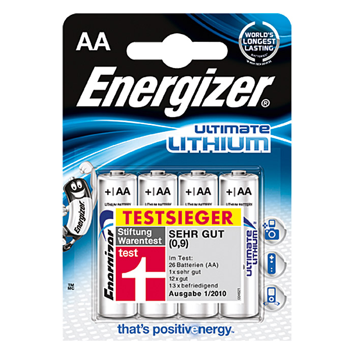 Energizer Batterie Ultimate Lithium (Mignon AA, 1,5 V, 4 Stk.)