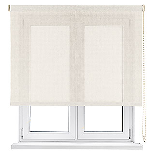 Viewtex Estor enrollable Screen 5% (An x Al: 135 x 190 cm, Beige/Blanco, Traslúcido)