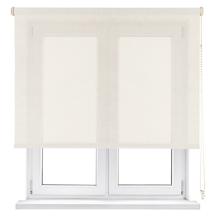 Viewtex Estor enrollable Screen 5% (An x Al: 120 x 190 cm, Beige/Blanco, Traslúcido)