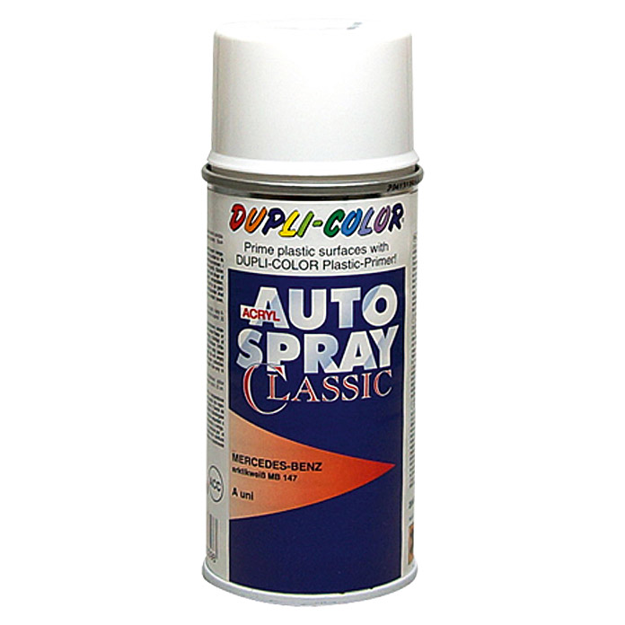 Dupli-Color Acryl-Autospray Classic (Mercedes Benz, Arktikweiß, 150 ml)