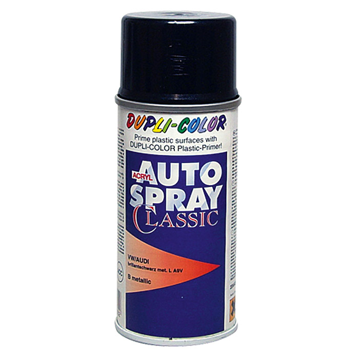 Dupli-Color Acryl-Autospray Classic (Audi / VW, Brillantschwarz Metallic)