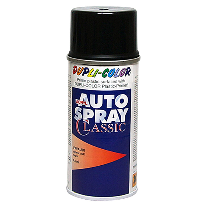 Dupli-Color Acryl-Autospray Classic (Audi / VW, Schwarz, 150 ml)