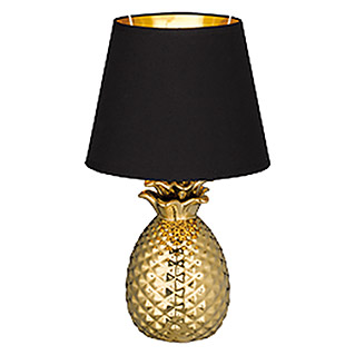 Trio Lighting Lámpara de sobremesa Pineapple (40 W, Dorado, Altura: 35 cm)