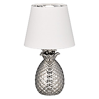 Trio Lighting Lámpara de sobremesa Pineapple (40 W, Plateado, Altura: 35 cm)