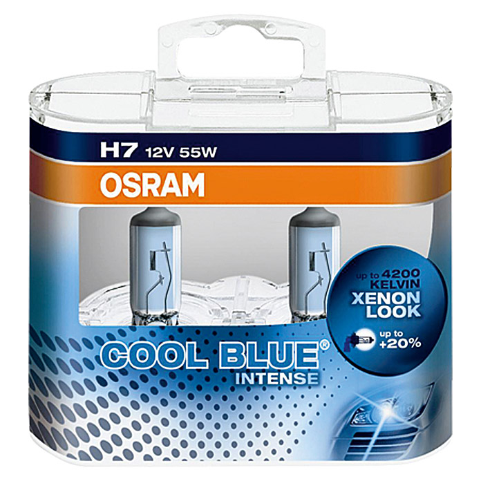 OSRAM H7  COOL BLUE DUO BOX   55 W      OSRAM