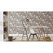 Barbara Home Collection Vliestapete Floral I (Grün/Rot/Weiß, Floral, 10,05 x 0,53 m)