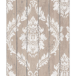FREUNDIN HOME COLLECTION Vintage Vliestapete (Beige, Ornament, 10,05 x 0,53 m)