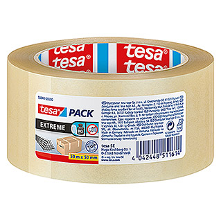 Tesa Pack Paketklebeband Extreme (Transparent, 50 m x 50 mm)