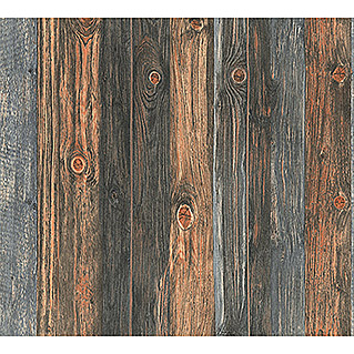 AS Creation Vliestapete Wood-n-Stone (Beige/Braun/Grau, Holzoptik, 10,05 x 0,53 m)