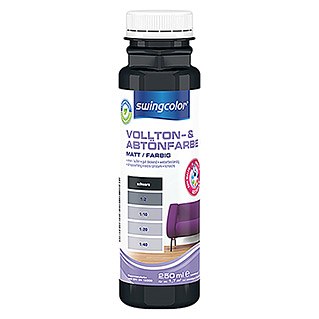 swingcolor Vollton- & Abtönfarbe (Schwarz, 250 ml, Matt)