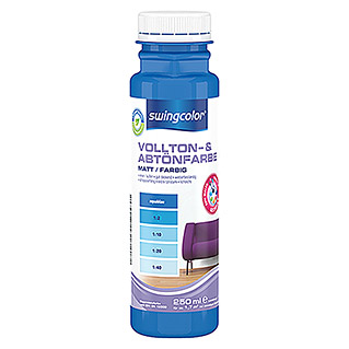 swingcolor Vollton- & Abtönfarbe (Aquablau, 250 ml, Matt)