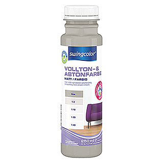 swingcolor Vollton- & Abtönfarbe (Grau, 250 ml, Matt)