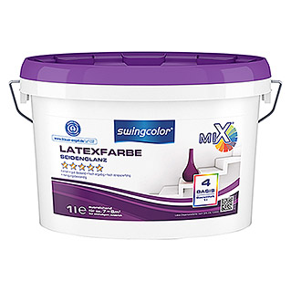 swingcolor Mix Latexfarbe Basis 4 (Basismischfarbe, 1 l, Seidenglänzend)