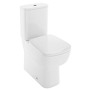 Ideal Standard Pack de WC Plose (Sistema Soft-Close, Con borde de descarga, Salida WC: Dual, Blanco)