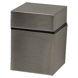 Duraline Modern Wandregalhalter-Set Cube (Belastbarkeit: 20 kg, Nickel matt)