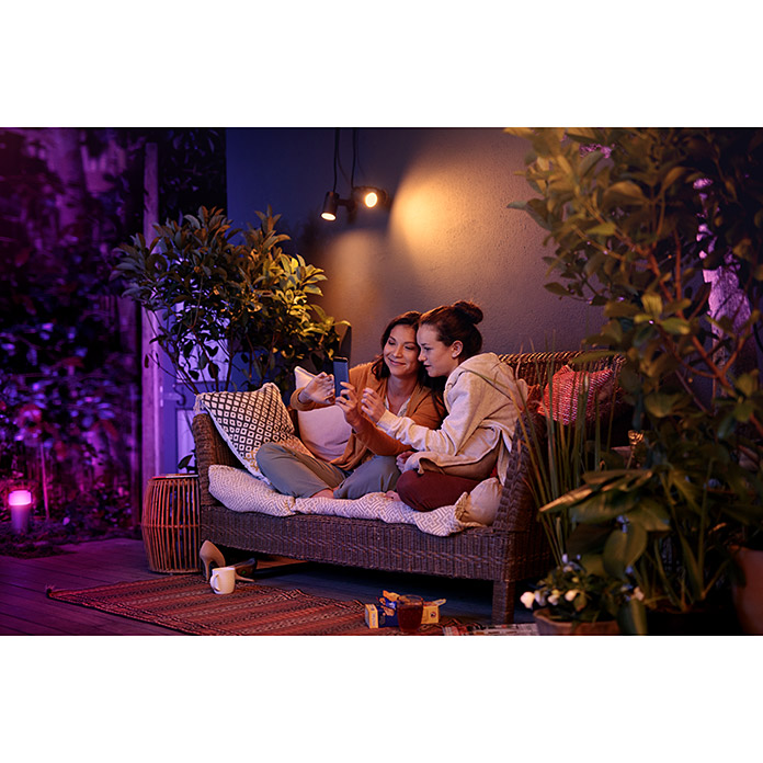 Philips Hue LED-Gartenspot-Set Lily (8 W, Anthrazit, IP65)