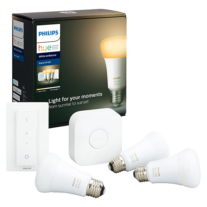 Philips Hue Set de iluminación LED (E27, Color de luz: Blanco frío)
