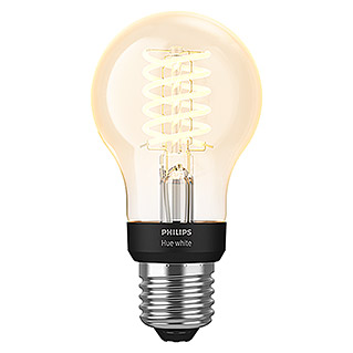 Philips Hue LED-Leuchtmittel White Filament (E27, 7 W, Warmweiß, Dimmbar, Birnenform)