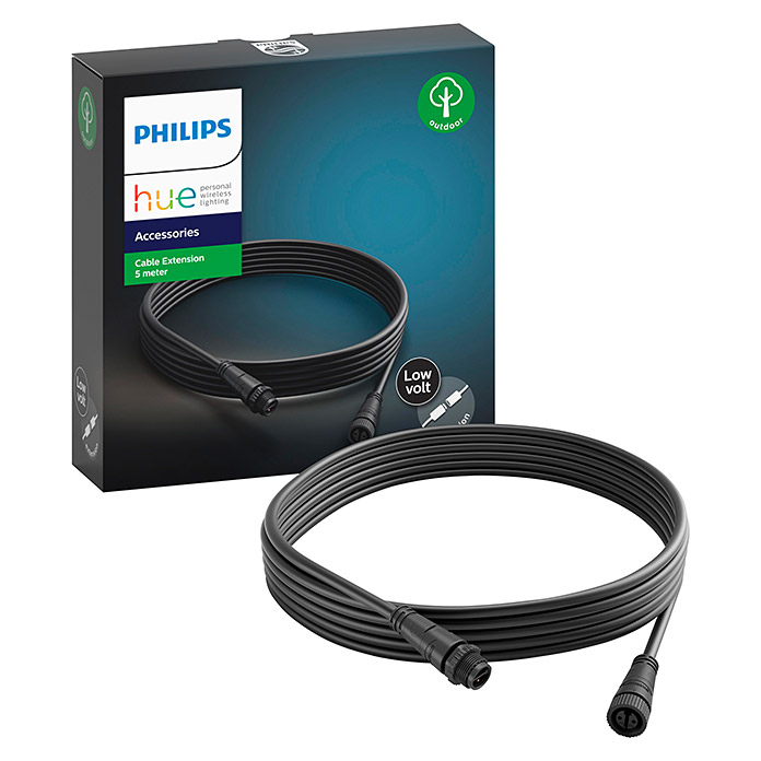 Philips Hue Verlängerungskabel White and Color Ambiance Outdoor (Schwarz, 5 m)
