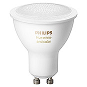 Philips Hue LED-Leuchtmittel White & Color Ambiance (GU10, 5,7 W, RGBW, Dimmbar, 1 Stk.)