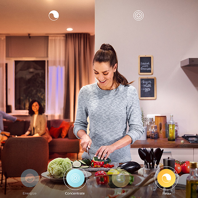 Philips Hue Ledlamp White & Color Ambiance (GU10, 5,7 W, RGBW, Dimbaar, 1 stk.)